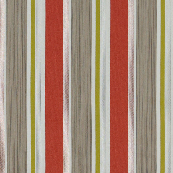 Kennedy Stripe-Jackie Orange Upholstery Fabric