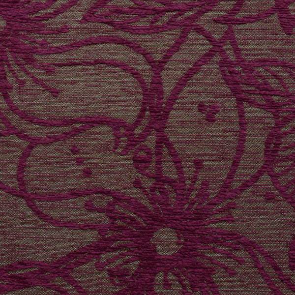 Flower Patch-Magenta Mystery Tour Upholstery Fabric