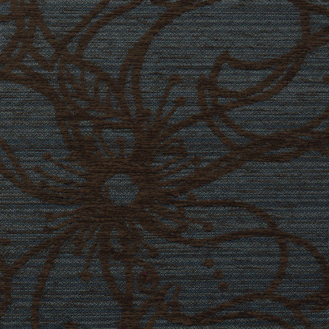 Flower Patch-Octopus's Blue Garden Upholstery Fabric