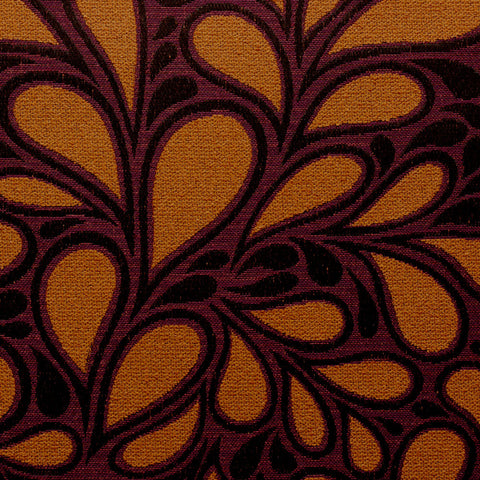 Jazz Age-Orange Garnet Upholstery Fabric
