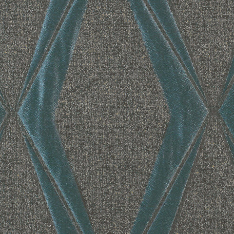Frequency-Imperial Turquoise Drapery Fabric
