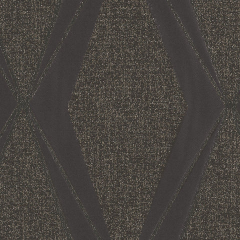 Frequency-Chocolate Diamond Drapery Fabric