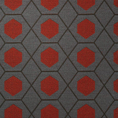 Geometry-Red Stone Upholstery Fabric
