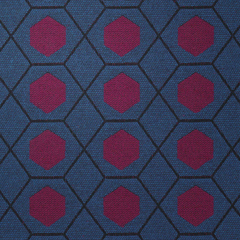 Geometry-Magenta Mix Upholstery Fabric