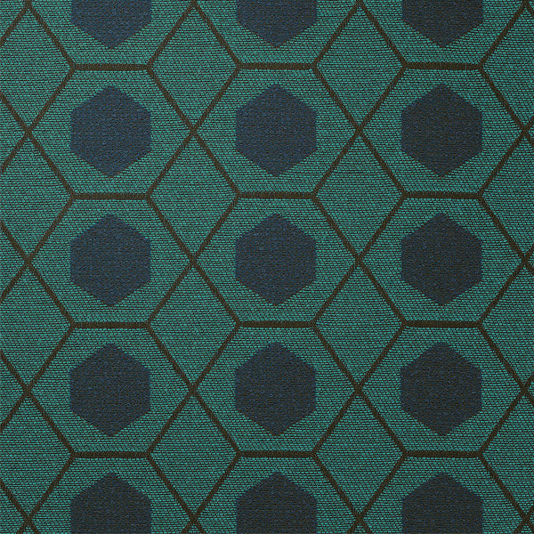 Geometry-Turquoise Blue Upholstery Fabric