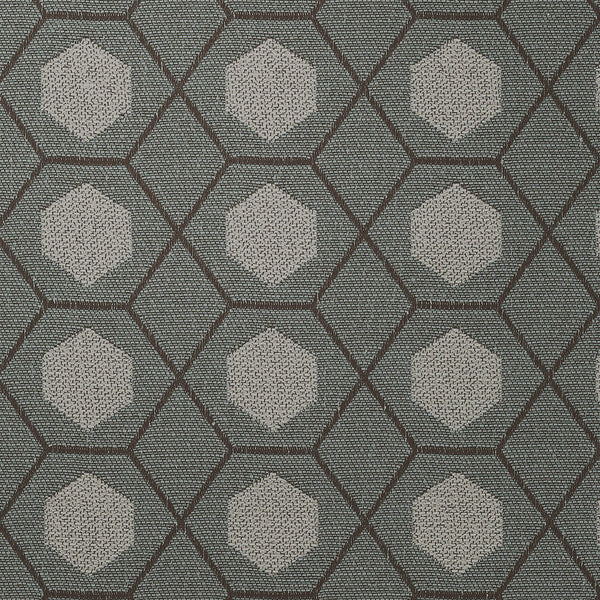 Geometry-Slate Wash Upholstery Fabric