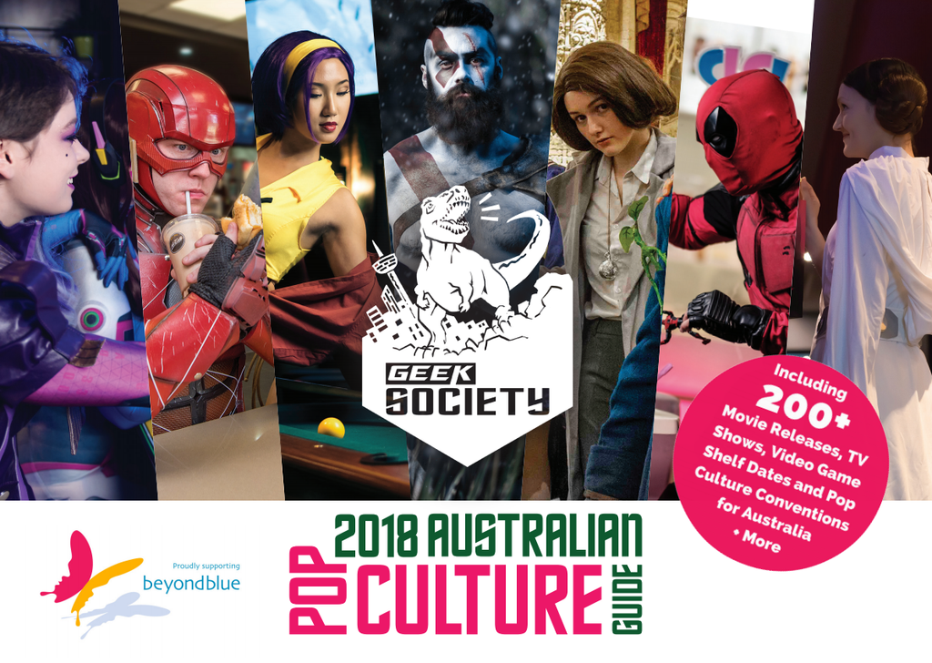 2018 Australian Pop Culture 12 Month Guide helping BeyondBlue + Digital Edition