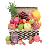 Deluxe Fruit Hamper with Tea