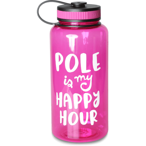 Pole is my Happy Hour 34oz Water Bottle