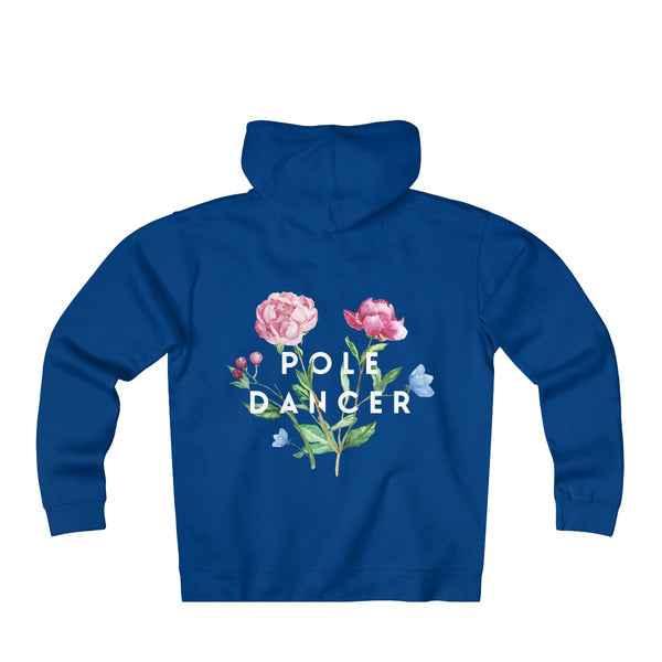 Pole Dancer in Bloom Adult Unisex Heavyweight Fleece Zip Hoodie
