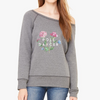 Pole Dancer in Bloom Women's Sponge Fleece Wide Neck Sweatshirt