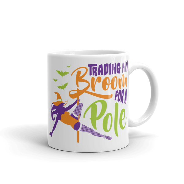 Trading my Broom for a Pole Halloween Mug
