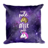 Pole Transformation Galaxy Square Pillow