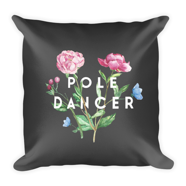 Pole Dancer in Bloom Square Pillow