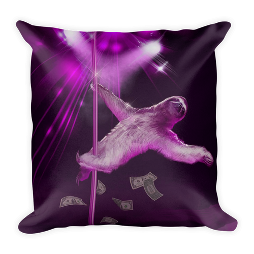 Our Friend Sexy Sloth Pole Dancing Square Pillow