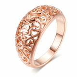 Floral 18K Rose Gold Plated Ring