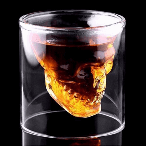Cranium Skull Whiskey Spirit Vessel