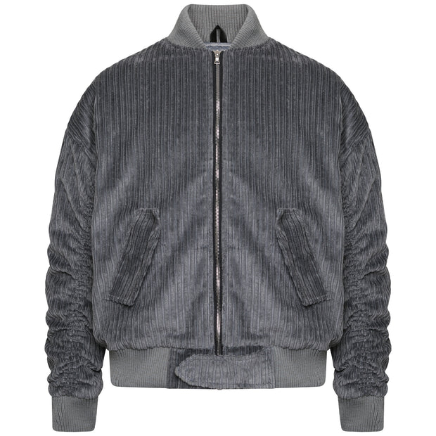 Corduroy Bomber Jacket - Grey