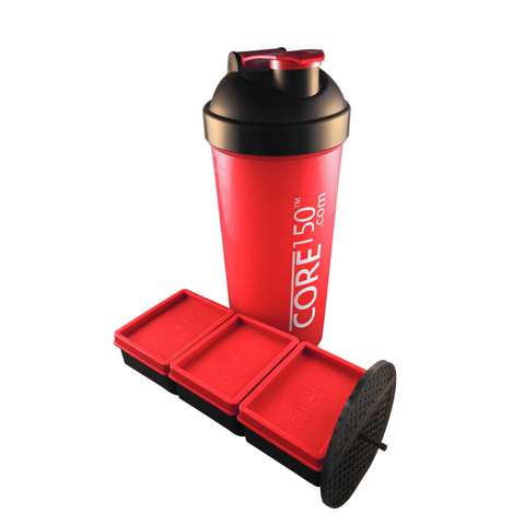 Attitude Shaker Core150 protein shaker bottle (red)