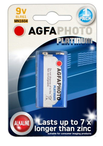 Agfa Photo Digital Alkaline 9v Battery - Pack of 1 - Battery Warehouse UK | Free UK Delivery on all Orders