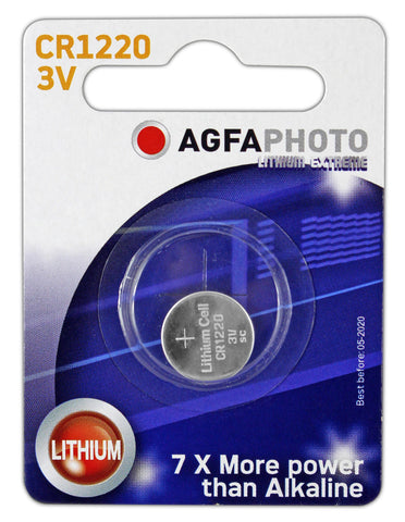 Agfa Photo Lithium Coin CR1220 3v Battery - Pack of 1
