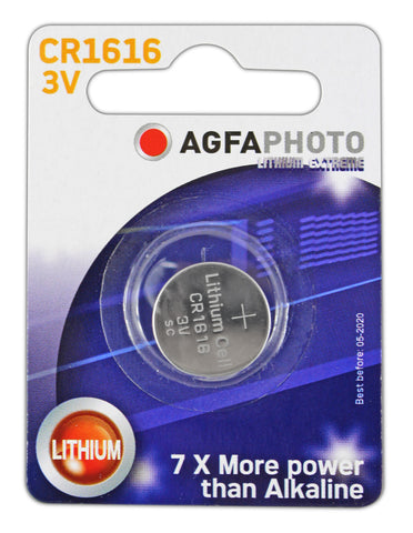 Agfa Photo Lithium Coin CR1616 3v Battery - Pack of 1