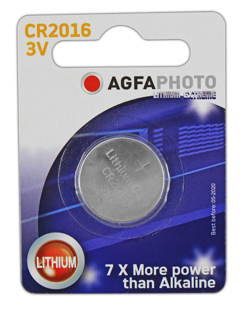 Agfa Photo Lithium Coin CR2016 3v Battery - Pack of 1 - Battery Warehouse UK | Free UK Delivery on all Orders