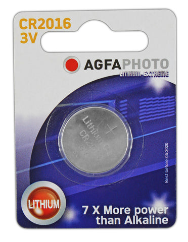 Agfa Photo Lithium Coin CR2016 3v Battery - Pack of 1