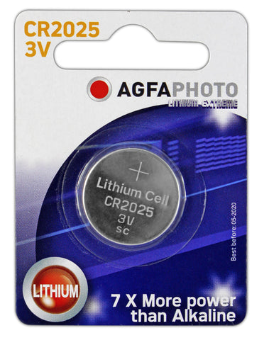Agfa Photo Lithium Coin CR2025 3v Battery - Pack of 1