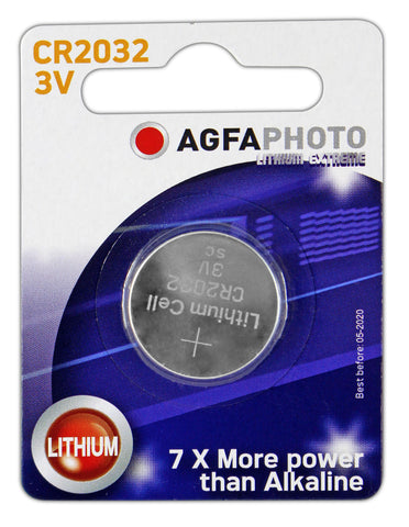 Agfa Photo Lithium Coin CR2032 3v Battery - Pack of 1