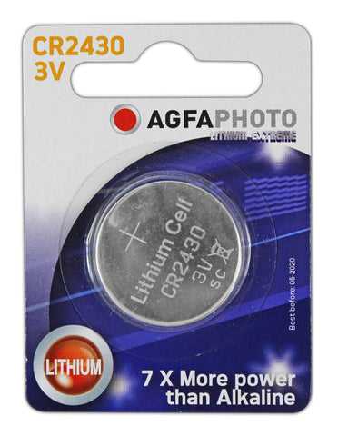 Agfa Photo Lithium Coin CR2430 3v Battery - Pack of 1