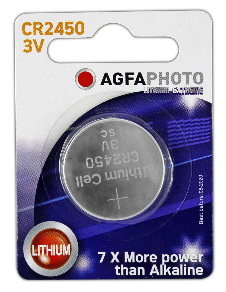 Agfa Photo Lithium Coin CR2450 3v Battery - Pack of 1 - Battery Warehouse UK | Free UK Delivery on all Orders