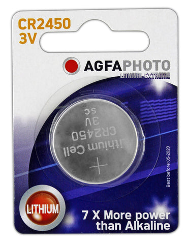 Agfa Photo Lithium Coin CR2450 3v Battery - Pack of 1