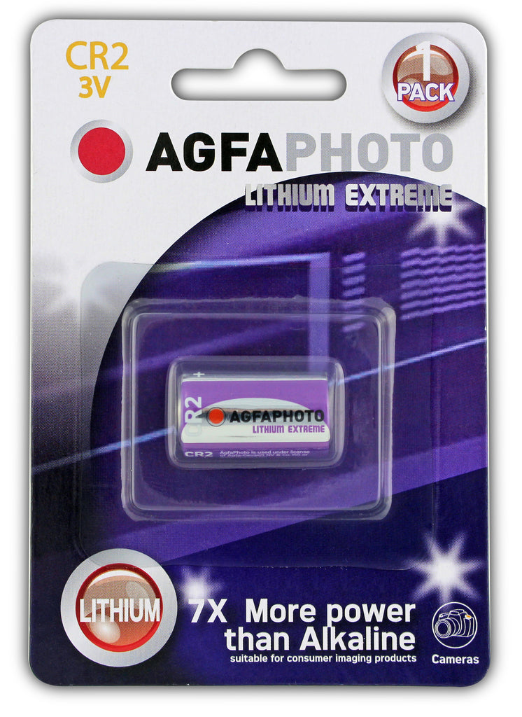 Agfa Photo Lithium Photo CR2 3v Battery - Pack of 1