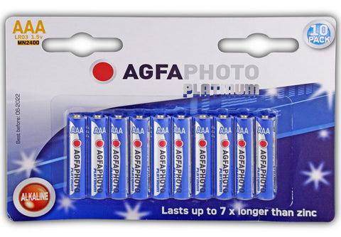 Agfa Photo Digital Alkaline AAA Battery - Pack of 10 - Battery Warehouse UK | Free UK Delivery on all Orders