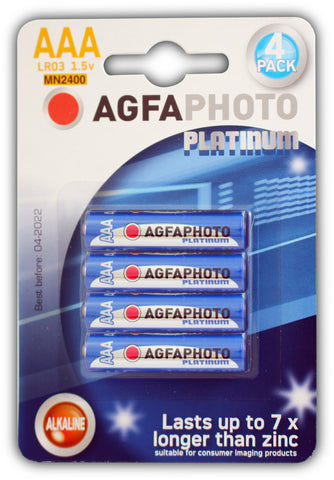 Agfa Photo Digital Alkaline AAA Battery - Pack of 4