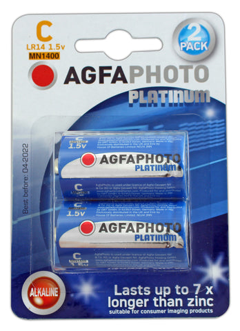 Agfa Photo Digital Alkaline C Battery - Pack of 2 - Battery Warehouse UK | Free UK Delivery on all Orders