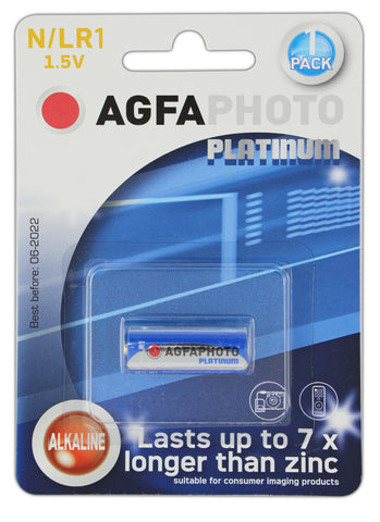 Agfa Photo Alkaline LR1 Battery - Pack of 1