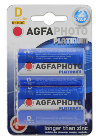 Agfa Photo Digital Alkaline D Battery - Pack of 2 - Battery Warehouse UK | Free UK Delivery on all Orders