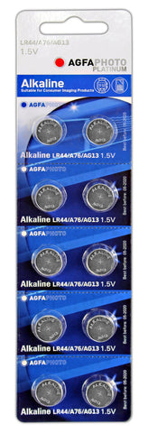 Agfa Photo Alkaline LR44 Battery - Pack of 10