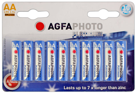 Agfa Photo Digital Alkaline AA Battery - Pack of 10