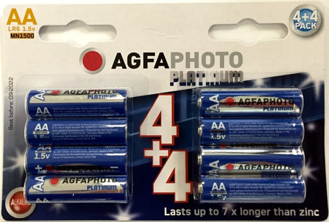 Agfa Photo Digital Alkaline AA Battery - Pack of 8