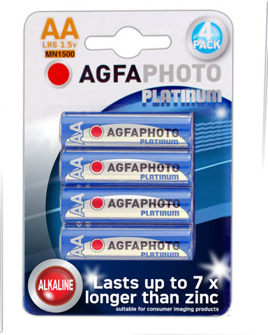 Agfa Photo Digital Alkaline AA Battery - Pack of 4