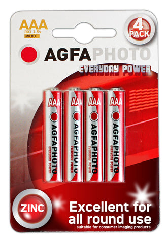Agfa Photo Zinc Chloride AAA Battery - Pack of 4