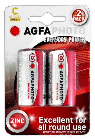 Agfa Photo Zinc Chloride C Battery - Pack of 2 - Battery Warehouse UK | Free UK Delivery on all Orders