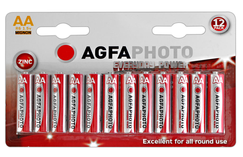 Agfa Photo Zinc Chloride AA Battery - Pack of 12