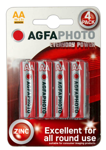Agfa Photo Zinc Chloride AA Battery - Pack of 4