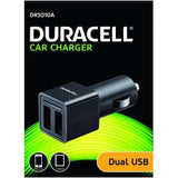 Duracell In Car 2 x 2.4A Twin USB Charger - Black (DR5010A) - Battery Warehouse UK | Free UK Delivery on all Orders