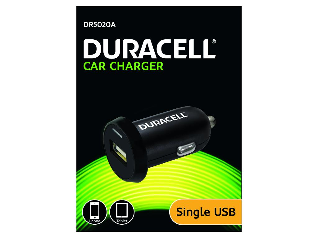 Duracell In Car 2.4A Single USB Charger - Black (DR5020A) - Battery Warehouse UK | Free UK Delivery on all Orders
