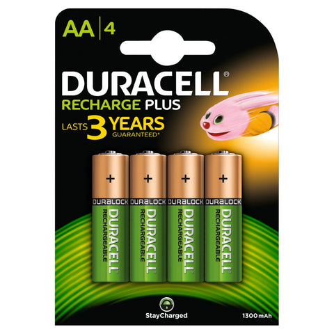 Duracell AA 1300mAh Rechargeable Battery - Pack of 4 - Battery Warehouse UK | Free UK Delivery on all Orders
